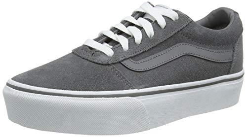 Vans Damen Ward Platform Sneaker, Grau ((Suede) Quiet Shade Xoz), 34.5 EU