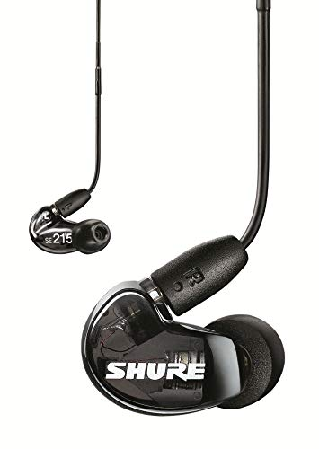 Shure SE215 Sound Isolating Earphones with 3.5mm Cable, Remote and Mic, Black