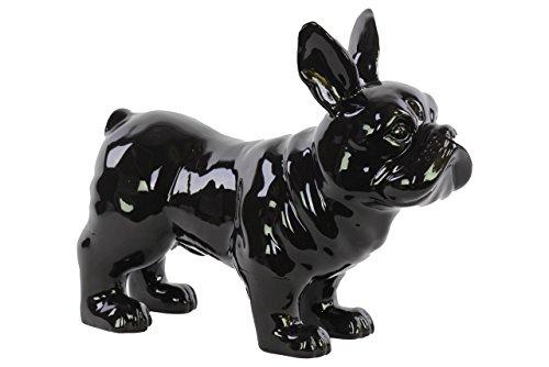 Urban Trends Ceramic Standing French Bulldog Gloss, Black