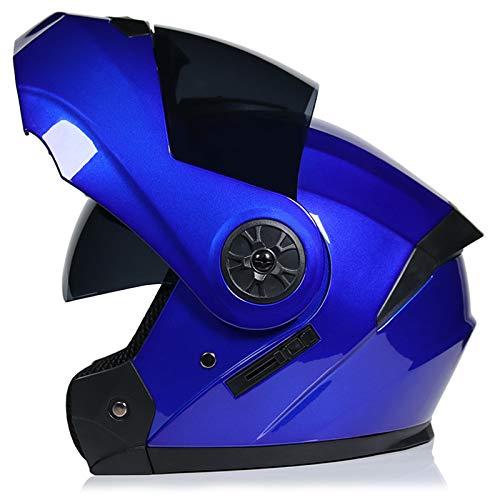 ZYW Motorradhelm Erwachsener Off-Road Motorrad Helm Herren- Und Damenhelm-Helm-Vollansicht-Helm-Profi-Rennhelm-Punkt/ECE-Zertifizierter Helm,S