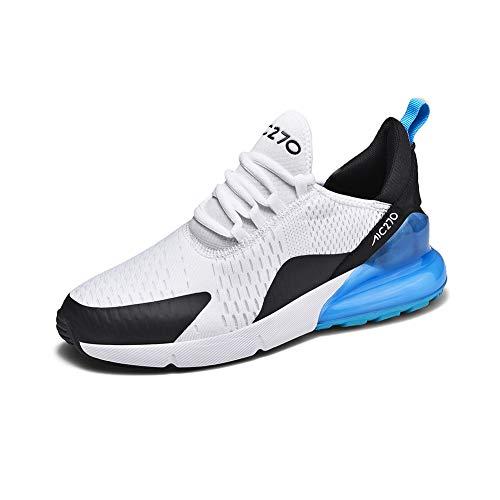 Zapatillas de Deportes Hombre Mujer Zapatos Deportivos Aire Libre para Correr Calzado Sneakers Running 13whiteblue37EU