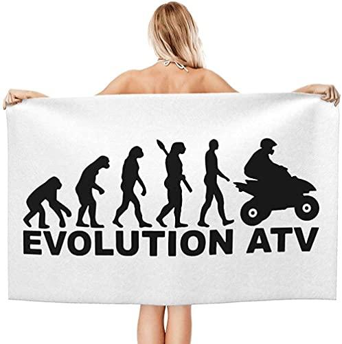 LUYIQ Toalla de Playa Grandes de Antiarena de Microfibra para Hombre Mujer, Bicicleta Quad Evolution ATV -150x70cm, Toallas Baño Secado Rapido para Piscina, Manta Playa, Toalla Yoga Deporte Gimnasio