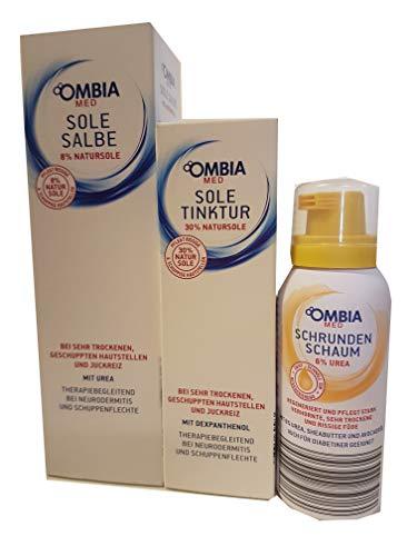150 g. Ombia Med Sole Salbe + 100 ml Tinktur + 100 ml Schrundenschaum