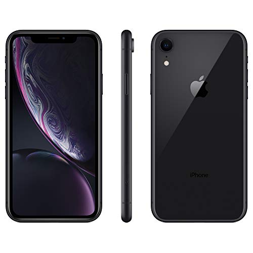 Apple iPhone XR, 128GB, Black - Fully Unlocked (Renewed)