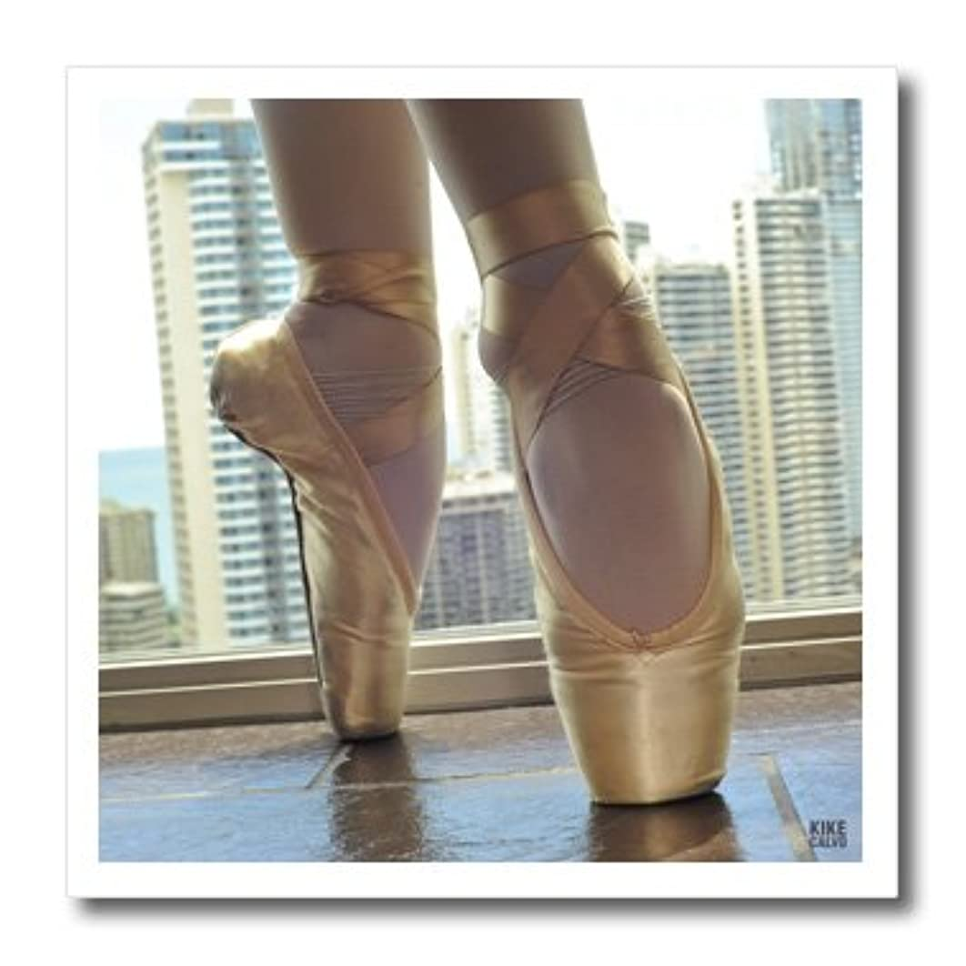 3dRose Kike Calvo Detail of a Pair of Ballet Shoes Iron on Heat Transfer Paper, 8 by 8-Inch