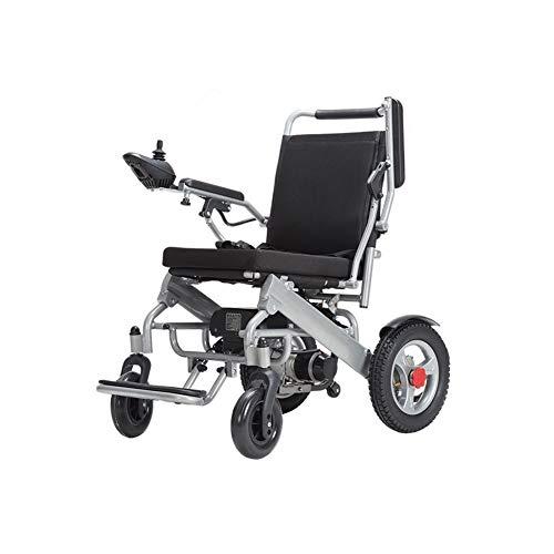Elektrisch aangedreven rolstoel, inklapbaar, 25 kg (18 tot 20 km bereik), 360 graden joystick, gewichtscapaciteit 120 kg, gemotoriseerde rolstoelen, kan in het vliegtuig stijgen, met hoofdsteun.