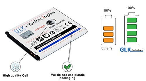 Geld zurück Garantie - Kaufen ohne Risiko! GLK-Technologies® Akku passend für Galaxy S4 EB-B600BE 2900 mAh High Capacity Battery 2020!