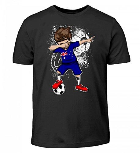 Hochwertiges Kinder T-Shirt - Dabbender Fußballer Junge - Australien/Fußball Trikot/Nationalmannschaft/Geschenk WM