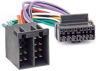 Audioproject A107   Autoradio Adapter Stecker Kompatibel zu SONY 16 pin Anschluss Kabel 30 x 12 mm  > ISO Buchse 16 polig Adapterkabel