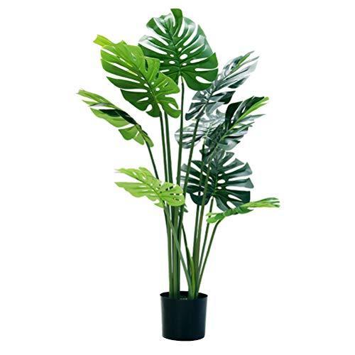 Qud Simulación artificial de plantas, falsas plantas tropicales, palmeras, paisaje, planta artificial, decoración fácil de limpiar 20/4/3, L