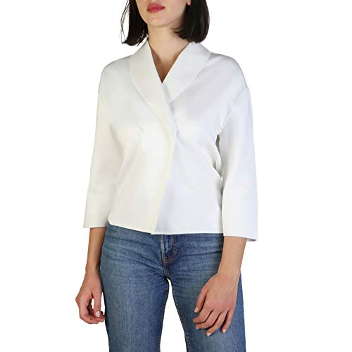 Armani Jeans Damen 3Y5G835J1IZ Strickjacken, Beige (Bianco Latte 11-0602 1148), 40