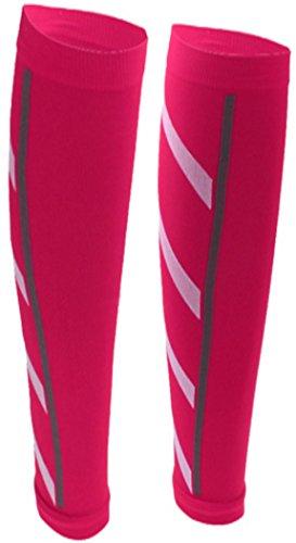 PRESKIN – 2 Kompressionsstrümpfe SportComp PINK ohne Fuß für Sportler, Arbeit & Alltag, Wadenbandage für Damen & Herren, bei Durchblutungsstörungen, müden Beinen und Krämpfen