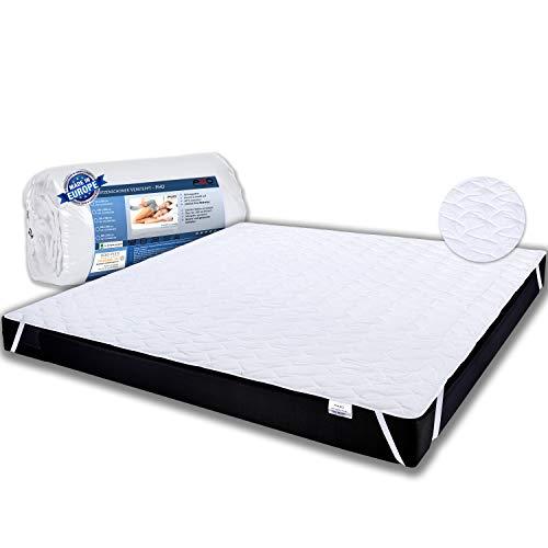 PHD Primera Matratzenschoner 180x200cm für Doppelbetten zum Schutz der Matratze. 60°C waschbar für mehr Hygiene im Bett. Gestepptes Unterbett auch für hohe Matratzen, Boxspringbetten u. Topper