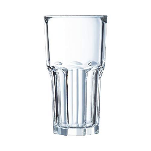 Arcoroc Granity FH46 boisson longue verre empilable 460ml , sans repère de remplissage, 6 Verres