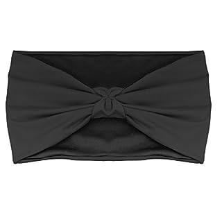 scheda moko bandana per uomini e donne, unisex headband casual versatile traspirante per multi-usi, super comodo, nero