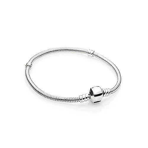 AKKi jewelry Beads Armband Edelstahl Perle bettel Charms Bead Silber Original Strass Pand NEU (Armband 17cm)