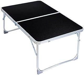 LUZAISHENG Plastic Mat Adjustable Portable Laptop Table Folding Stand Computer Reading Desk Bed Tray (Black) (Color : Black)