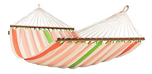 LA SIESTA Colada Mango - Tweepersoons spreidstok hangmat outdoor