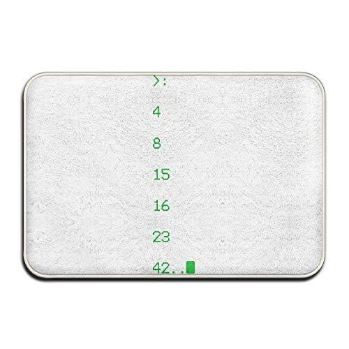 """dingjiakemao Funny Lost Numbers 42 Doormat -23.6""""x15.7"""" Welcome Door Mats Inside Non Slip Entrance Rug"""