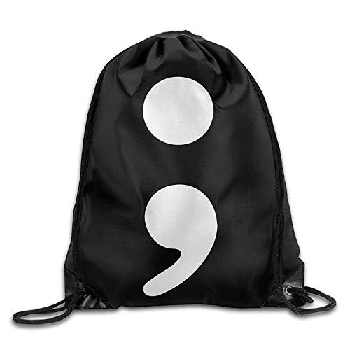 Harla Semi Colon Drawstring Backpack Bag Beam Mouth Yoga Sackpack Rucksack Shoulder Bags for Men/Women Fashion