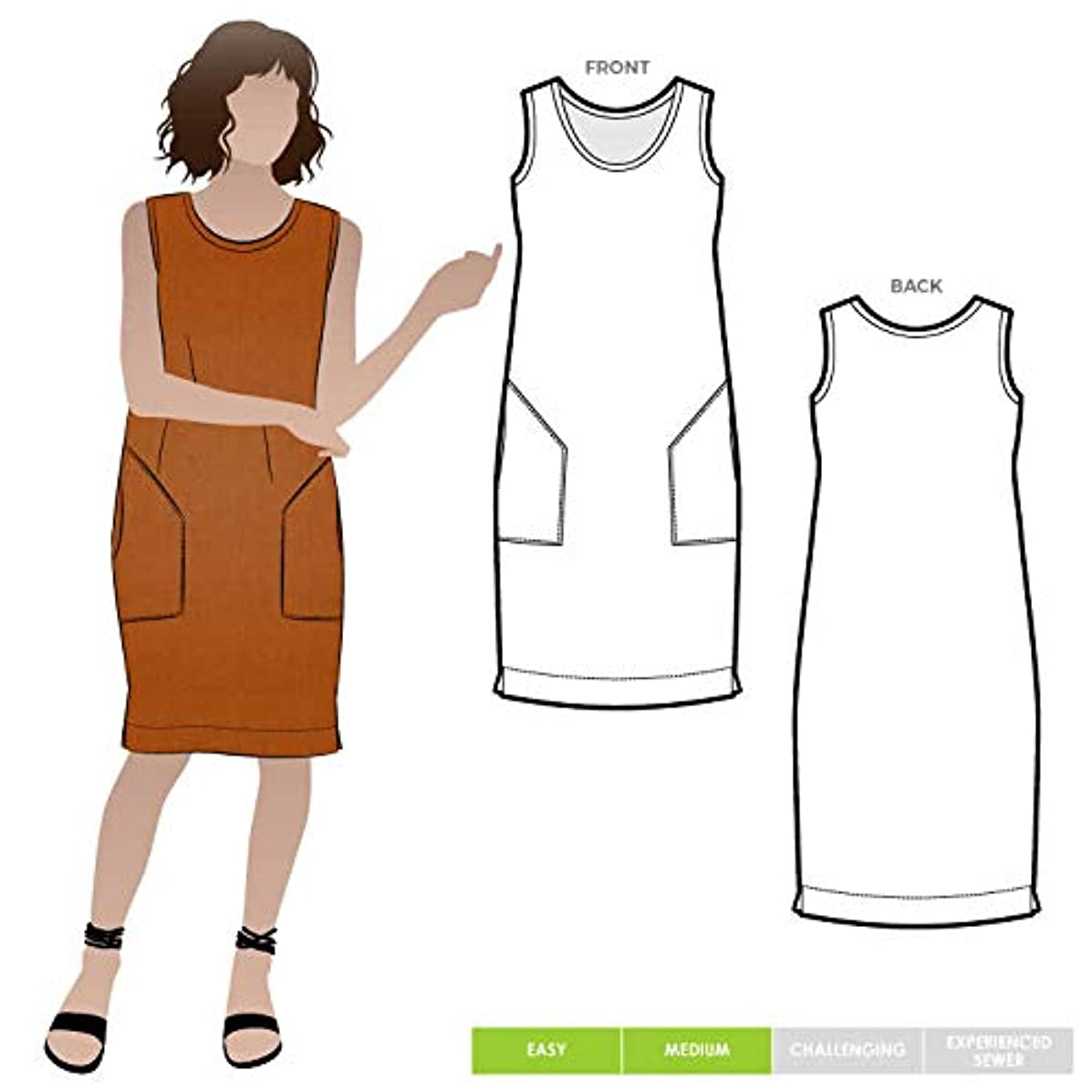 Style Arc Sewing Pattern - Iris Woven Dress (Sizes 18-30) - Click for Other Sizes Available
