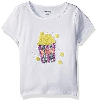Gymboree Girls  Toddler Short Sleeve Fun Graphic Tee White Popcorn 2T