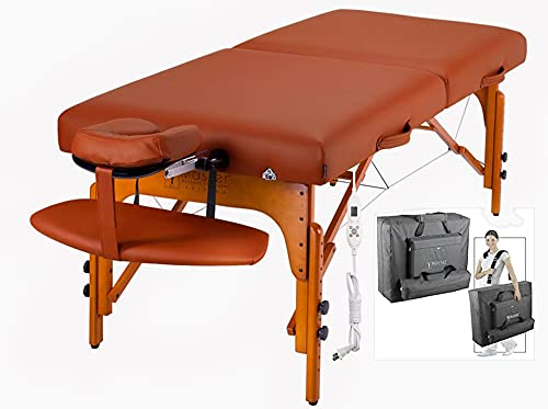 Master Massage Tables Portable Professional Heated, Extra Wide Massage Spa Bed, 31 Inch Portable Facial Bed with Heat,with Memory Foam,for Massage Therapist,Physiotherapist,Heating Warmer Pad Built in