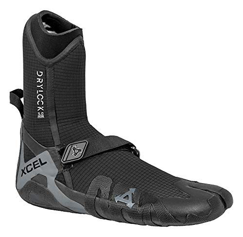 XCEL Drylock Split Toe 5mm Wetsuit Boots UK 10 Black Grey