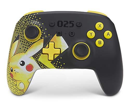 PowerA - Mando Inalámbrico Mejorado De Powera: Pikachu 025 (Nintendo Switch).