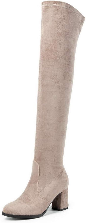AdeeSu Womens Bucket-Style High-Top Boots Urethane Boots SXE04262