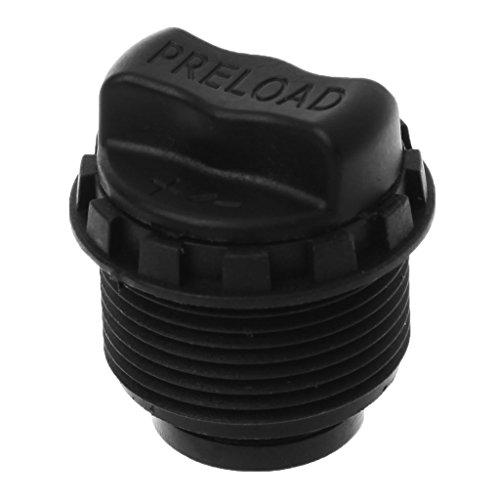 Ranuw Bicycle Front Fork Lock Cap Knob Preload Adjustable MTB Bike Cycling PartsTools Black