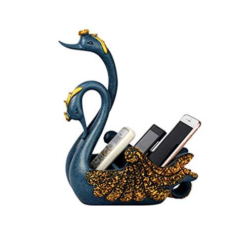 DJY-JY Decoración para teléfono móvil, caja de almacenamiento con control remoto, decoración de escritorio (color azul, tamaño: 27 x 17 x 31 cm/10 x 6 x 12 pulgadas) manualidades para el hogar