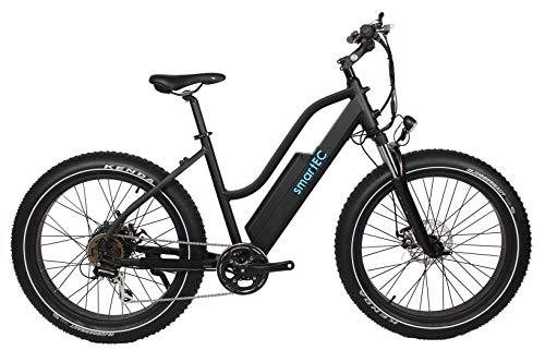 414KnFFL0NL - smartEC RockX-26T Trekking Fat Pedelec E-Bike Elektrofahrrad E-Cruiser 26 Zoll Samsung 48V/14AH, Fahrunterstützung bis zu 25km/h, leistungsstarker Heckmotor