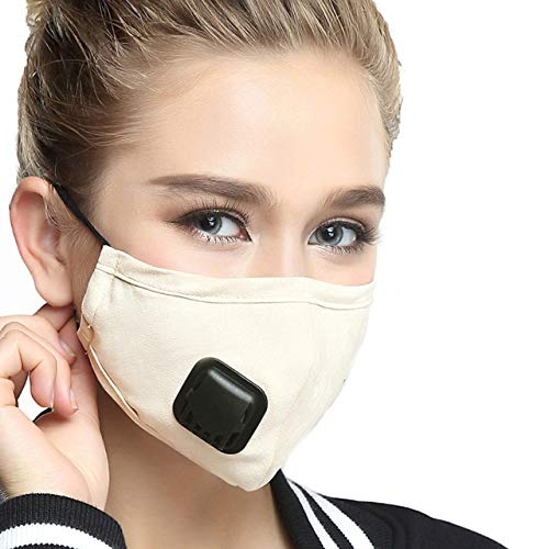 1 Stk Anti-Vervuiling Pm2.5 Masker Luchtfilter Stofmasker Warm Respirator met Vervangbare Filter Dames Mannen 4