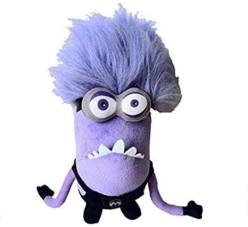 N/C Despicable Me Peluches Minions Purple Muñeca Suave Cojín Relleno para Bebé Niños 30Cm Doble Ojos Minions
