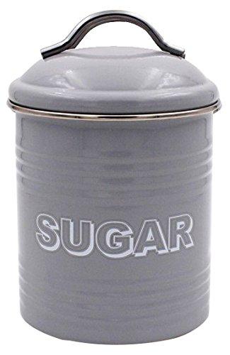Lesser & Pavey Sweet Home Boîte à sucre en métal Gris 11 x 11 x 19 cm