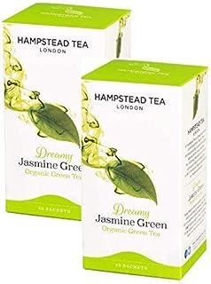 Hampstead Tea London grüner Jasmin Tee — 2 x 20 Teebeutel 80 g