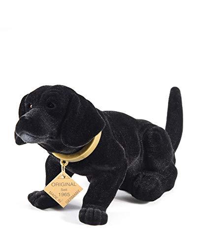 myHomery Wackeldackel original - Wackelfiguren fürs Auto - Hund mit Wackelkopf - Dackel als Wackelhund - Wackel Hund in groß und klein - 19cm & 29cm Schwarz   19cm