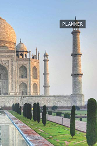 Weekly Planner Taj Mahal India: 1 Year Week by Week Planning | 12 Months (January 2021 December 2021) | 6 x 9 Writing Notebook | 53 Pages Datebook ... Goals, Stay Organized & Get Your Stuff Done