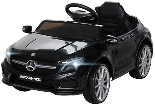 Actionbikes Motors Kinder Elektroauto Mercedes Benz Amg GLA45 - Lizenziert - Rc 2,4 Ghz Fernbedienung - Softstart - SD-Karte - USB - MP3 - Elektro Auto für Kinder ab 3 Jahre (GLA45 Schwarz)*