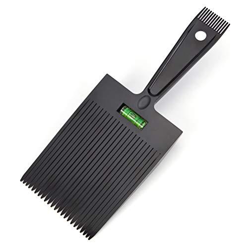 Macabolo Peigne à cheveux plat double extrémité - Avec système de nivellement précis de l'eau - Outil de coiffure pour homme - Salon de barbier
