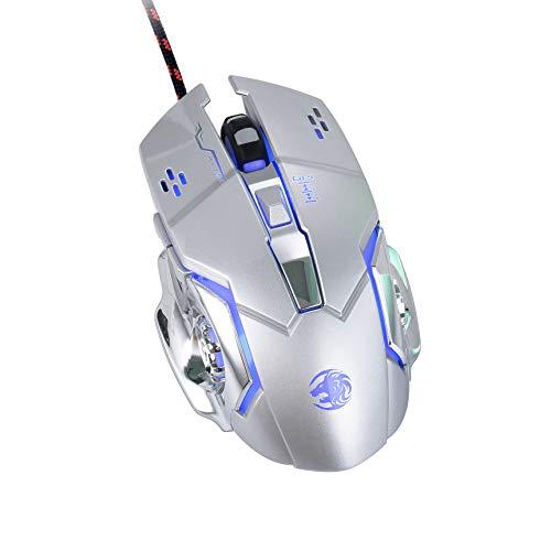 High-Performance Gaming-Maus, 16000 DPI Optischer Sensor, RGB-Beleuchtung, Gewichtstuning, Anpassbare Spielprofile, PC/Mac (Weiß - Grün)