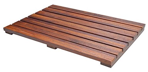 Soothing Styles Luxury Teak Bath Mat Large Size with...