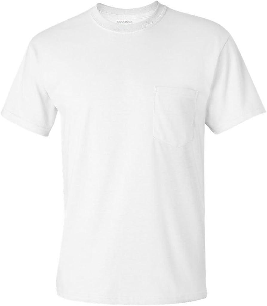 Saddleback Men's Workwear Short-Sleeve T-Shirt with Pocket in Original Fit-S61P
