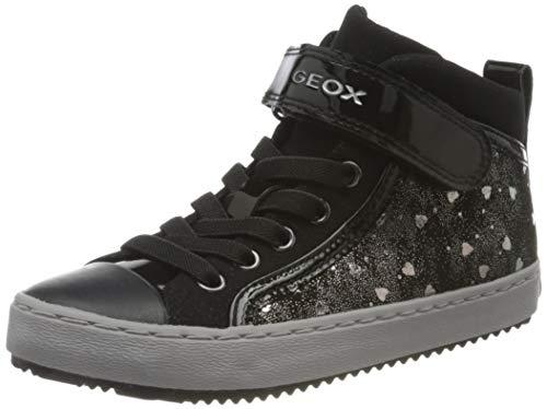 Geox Mädchen J Kalispera Girl I Sneaker, (Black/Dk Silver), 24 EU