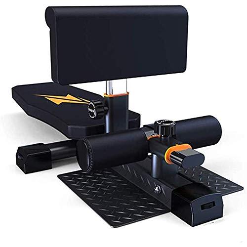 Find Bargain Squat Machine,Multi-Function Folding Adjustable Sissy Leg Muscle Trainer Sit-Ups Home T...