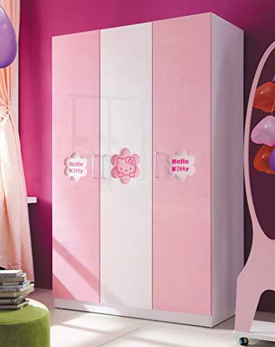 KINLO Türaufkleber klebefolie Küchefolie Rosa 80x500cm MIT GLITZER möbelfolie aus hochwertigem PVC Aufkleber für Schrank Tapeten wasserfest selbstklebende Folie Küchenschrank Dekofolie