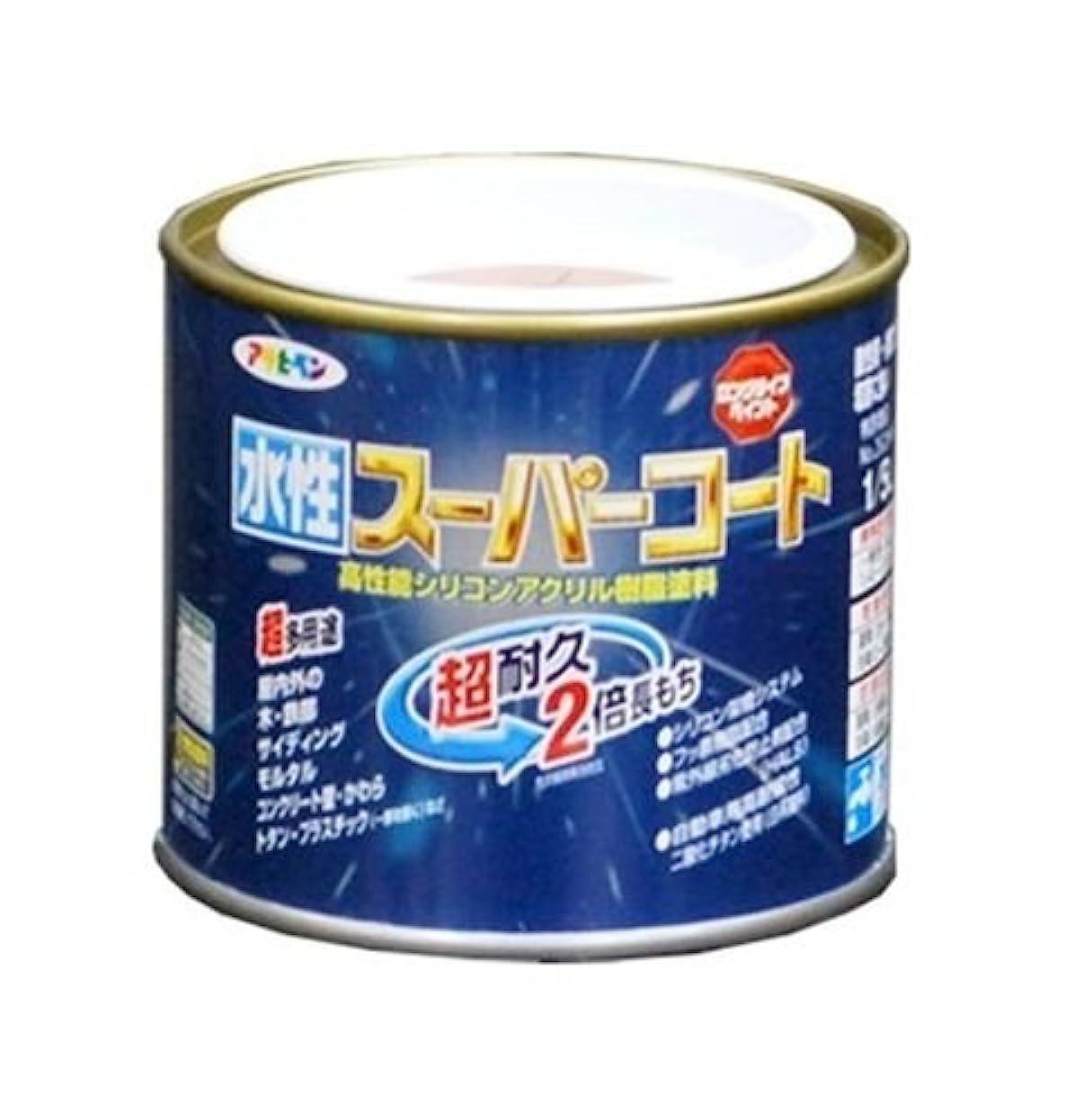 橋脚細菌森アサヒペン ペンキ 水性スーパーコート 水性多用途 ミルキーホワイト 1/5L