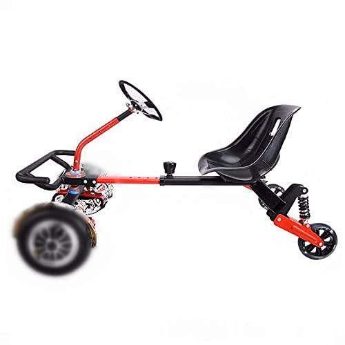 Gmjay Accesorio de Fijación para Asiento de Tablero Hover con Volante para Niños y Adultos Kit de Marco de Karts, Compatible con Todos Los HoverBoards 4.5 6.5  8.5 10