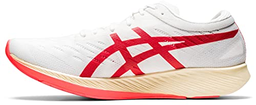 ASICS METARACER, Chaussures de Course Homme, White Sunrise Red, 42 EU